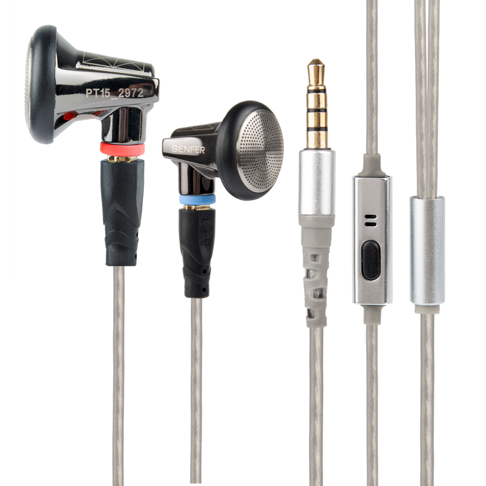 Neue SENFER PT15 Earburd Graphit bush Dynamische Treiber In Ohr Kopfhörer HIFI Earplhone Mit MMCX Interface