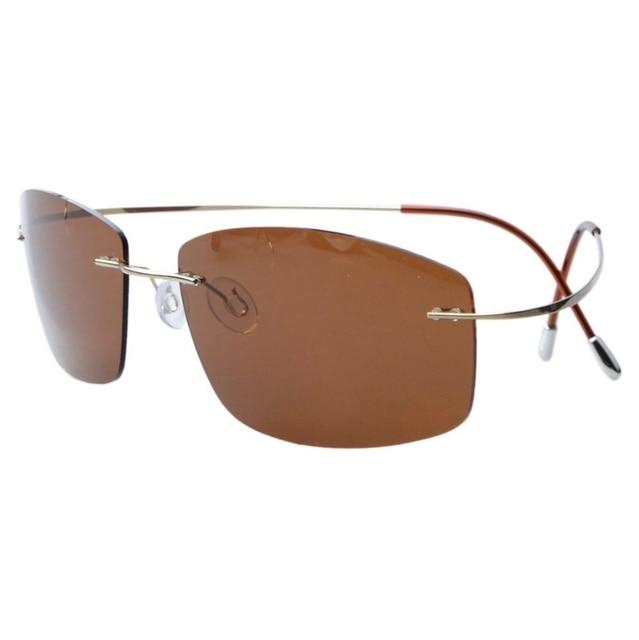 b73acee047 S1504 Eyekepper Rimless Titanium Frame Polarized Sunglasses-in ...