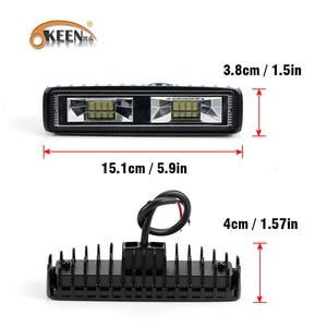 Image 4 - OKEEN Super Helle LED Arbeit Licht 48 W Offroad Auto 4WD Lkw Traktor Boot Anhänger 4x4 SUV ATV 12 V Flut LED Licht Bar Nebel Lampe