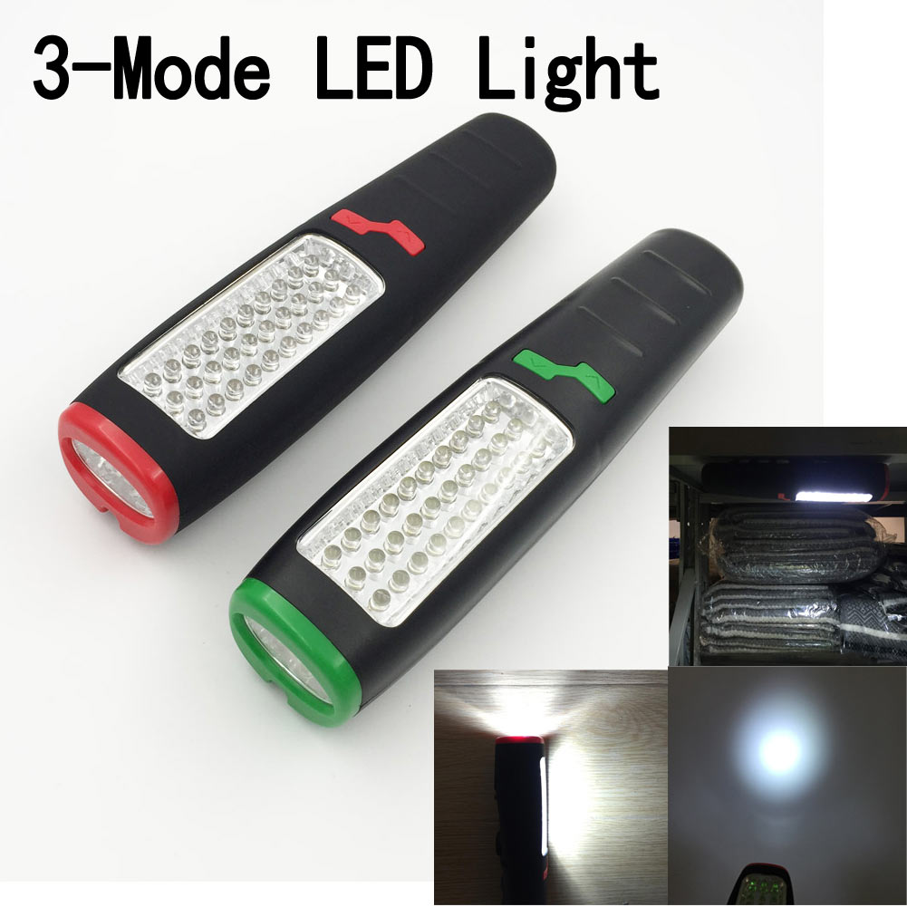 1pc 37 LED Flashlight Work light Camping Outdoor Lamp With Built-in Magnet Hook Newest led hook light magnetic flashlight perfect torch work lamp with magnet and 2 light modes camping outdoor sport drop clh