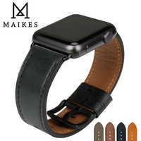 MAIKES Orologio In Pelle di Qualità Cinturino di Ricambio Per Apple Watch Band 44mm 40mm 42mm 38mm Serie 4 3 2 1 iWatch Cinturino