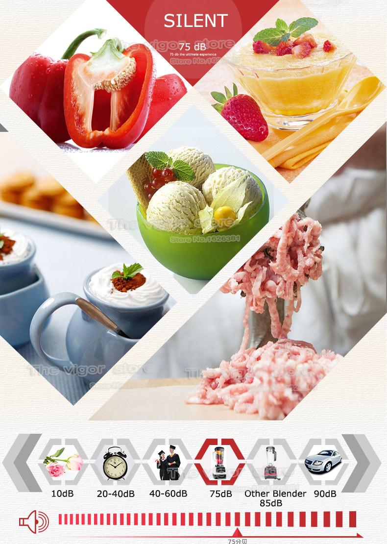 BPA Free 3HP 2200W Heavy Duty Commercial Grade Blender Mixer Juicer High Power Food Processor Ice Smoothie Bar Fruit Blender 18