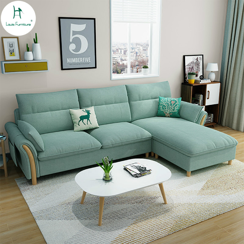 Living Room Furniture St Louis: Louis Fahsion Nordic Style Living Room Sofa Modern Simple