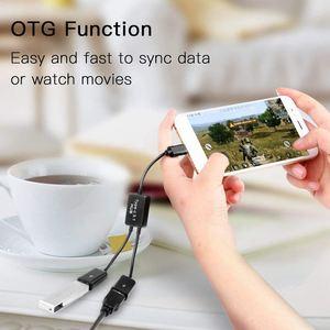 Image 5 - HFES חדש סוג C OTG USB 3.1 זכר כפול 2.0 נקבה OTG תשלום 2 יציאת רכזת כבל Y ספליטר