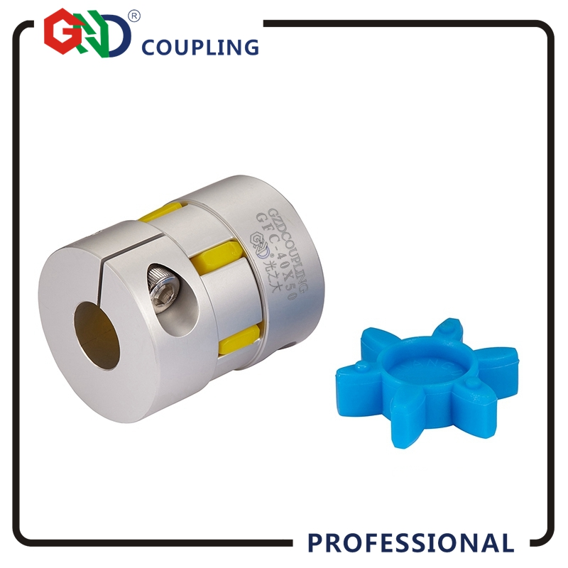 GND coupling stepper motor GND D40 L50 hole mini 6mm max 24mm plum jaw shaped clamp shaft coupler for servo motor цена