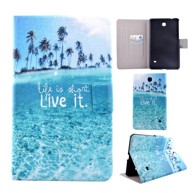 Cover Case For Samsung Galaxy Tab4 Tab 4 8.0 T330 T331 T335 +1pcs film