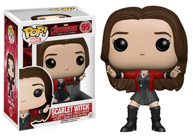 Official Funko <font><b>pop</b></font> <font><b>Avengers</b></font> <font><b>2</b></font>: <font><b>Age</b></font> <font><b>of</b></font> <font><b>Ultron</b></font> - <font><b>Scarlet</b></font> <font><b>Witch</b></font> Vinyl Action Figure Collectible Model Toy with Original Box
