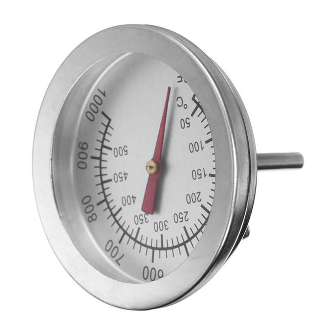 F/C 2″ Stainless Steel Oven Dual Gage 500 Degree Thermometer BBQ Smoker Pit Bimetallic Quick Response Temp Gauge Bakeware