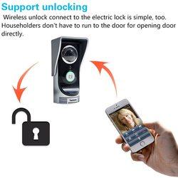 واي فاي الجرس فيديو هاتف إنتركم للباب اللاسلكية الرقمية الذكية ثقب الباب المشاهد كاميرا 2.0 ميجابيكسل للرؤية الليلية جرس الباب