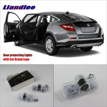 Liandlee Car Door Ghost Shadow Lights For Honda Accord Crosstour 2010~2015 Courtesy Doors Lamp / LED Projector Welcome Light