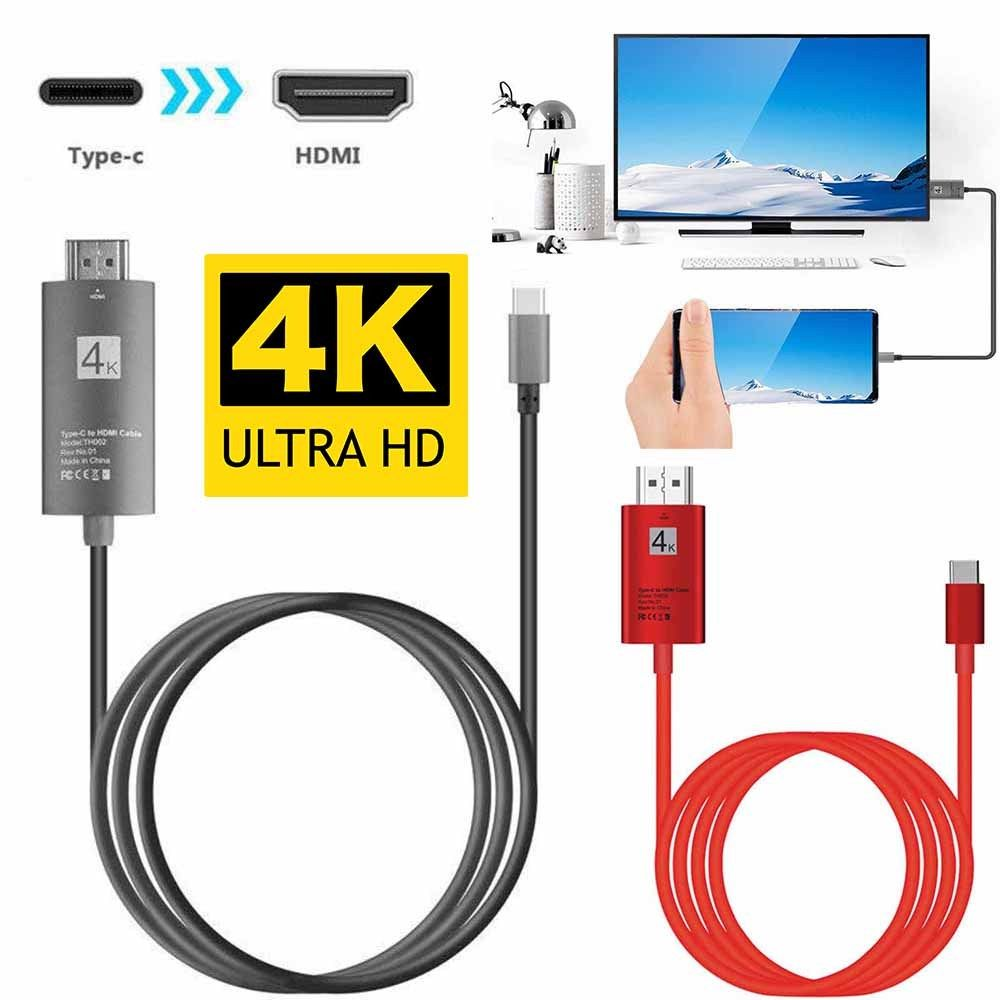 USB 3.1 Type C USB-C To HDMI Adapter Cable For Samsung Galaxy Note 8//S8//S9 Plus