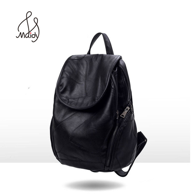 d089a2da3f Genuine Cow Leather Backpack And Shoulder Women Large Bags Backpack Mochila  School Bags For Teenagers Vintage Casual New Style