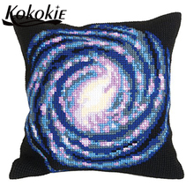3d embroidered mats fabric throw pillow knitting needles kit for cross