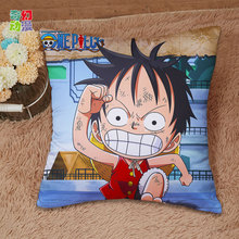 Anime one piece Pillow case soft Satin weave Pillowcase One-sided Double-Faced Printing Pillow cover Pillowcase