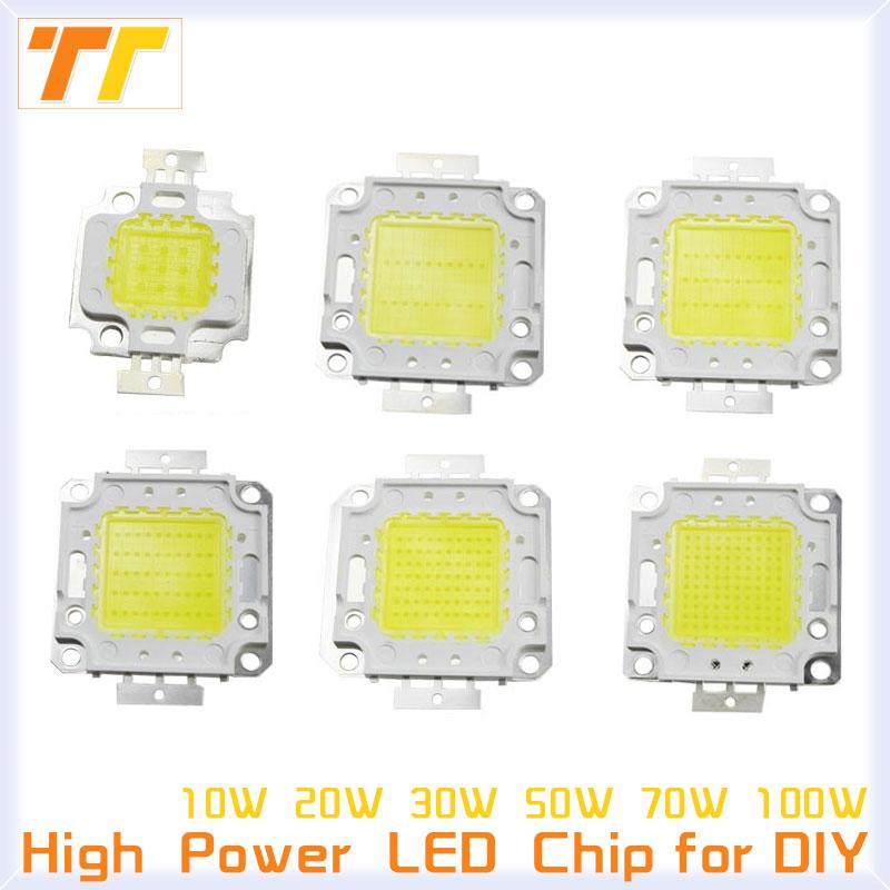 High Power LED chip Warm White Cool White Watt 10W 20W 30W 50W 100W COB Integration Bulbs For LED Flood Light SMD