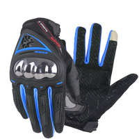 SCOYCO Motorcycle Gloves Summer Breathable Wearable Protective Outdoor Sports Full Finger Riding Glove Motocross Guantes MC44