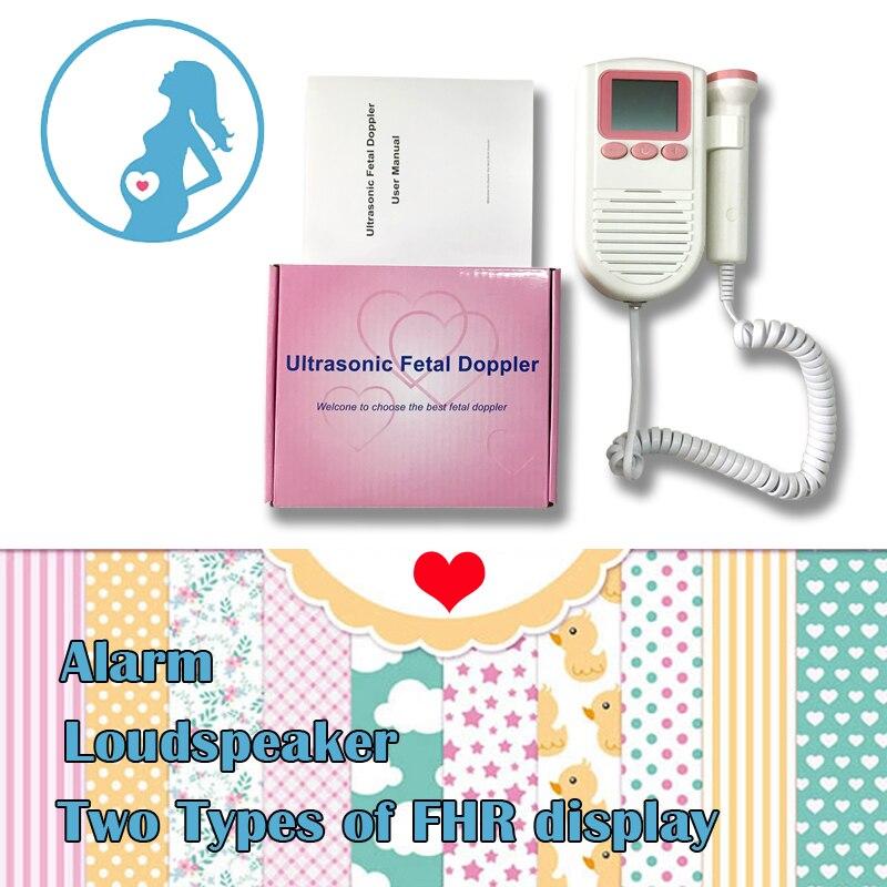 Ultraschall Fetal Doppler Fetalen Herzfrequenz-messgerät 2,0 Mhz Sonde mit FHR Skala mit Lautsprecher