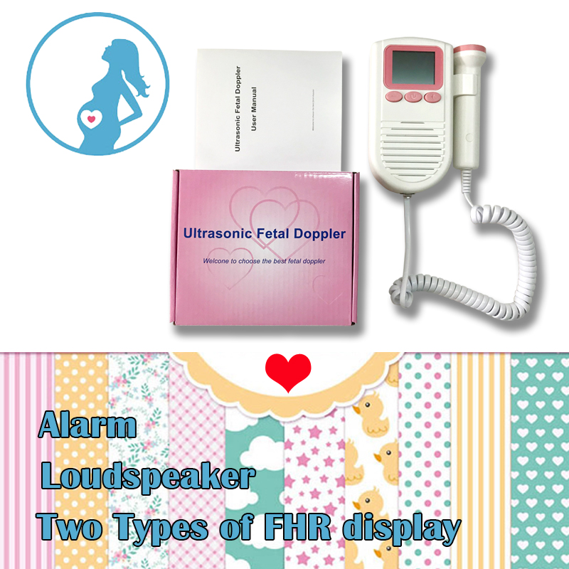Ultrasonic Fetal Doppler Baby Fetal Heart Rate Monitor 2.0Mhz Probe with FHR Scale with Loudspeaker doppler foetal 100b fetal heart rate detection device easy to use for home fhr portable ultrasonic diagnostic baby lcd screen