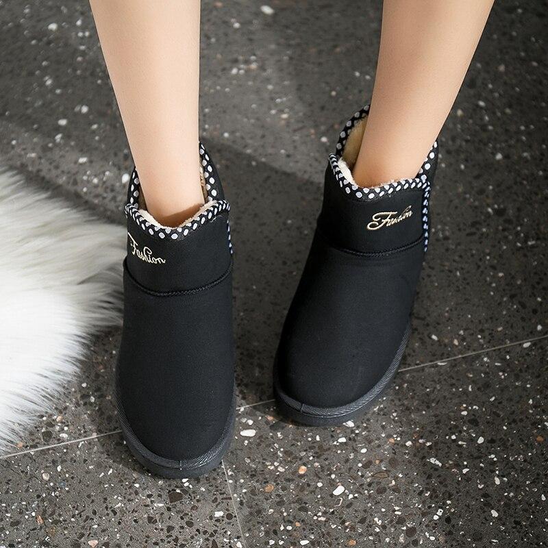 3c77ff134 Zapatos Talón Asileto Bota Mujeres S825 beige Nieve Plano Botines Mujer  Botas Calzado Feminina Piel gray Caliente De Invierno ...