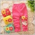 2015 новый весенний цветок девушки брюки моды детей брюки дети девушки леггинсы брюки дети леггинсы детей брюки 0-2 год
