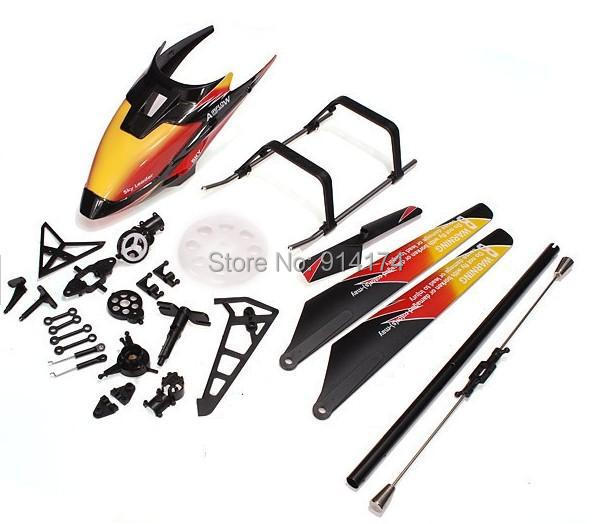 wltoys v913  2.4G 4 ch rc  helicopter spare part kits main blade+canopy+landing gear ect free shipping