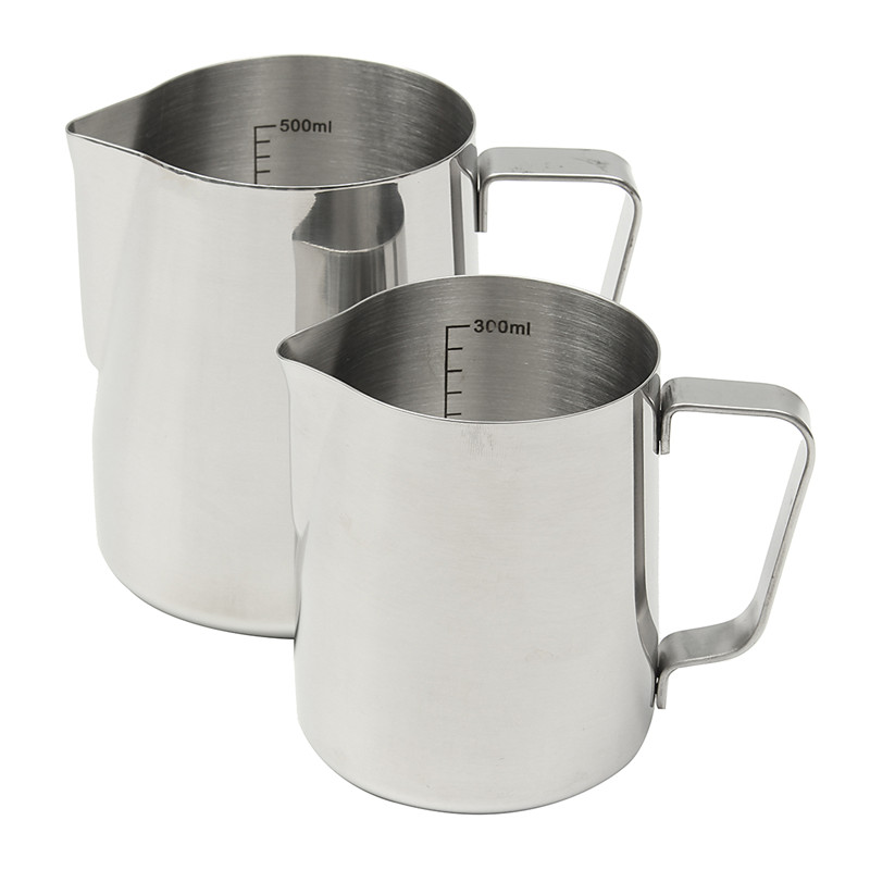 japanese style thickened stainless steel espresso coffee milk cup mugs thermo frothing pitcher steaming frothing pitcher