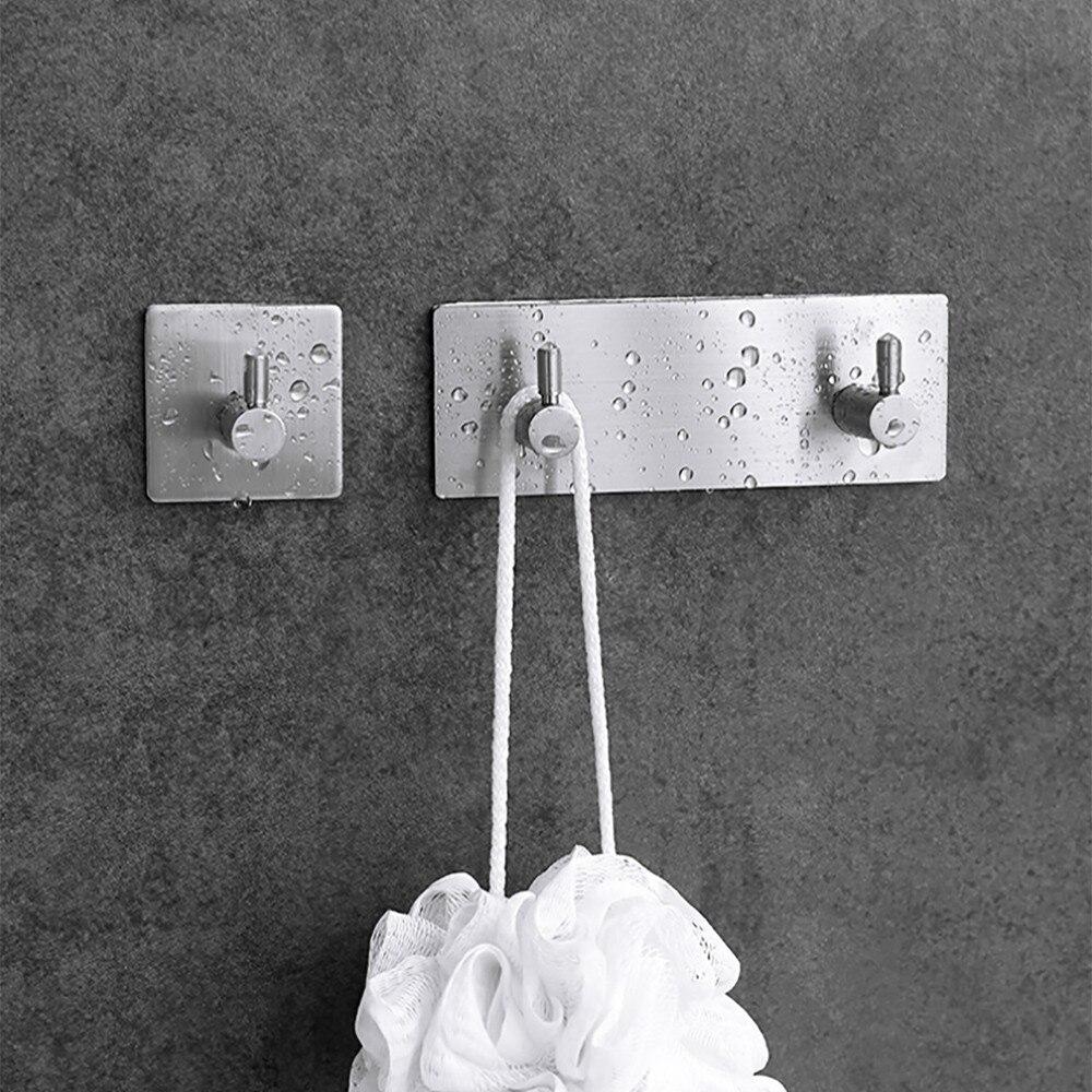 Home & Garden Bathroom Storage & Organization 2019 Latest Design 1 Set Stainless Steel Self-service Bathroom Kitchen Hook Tape Hook Wall Hanging Clothes Towel Handbag Rack Storage Accessoriesm3