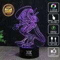 HUI YUAN Marca USB Lâmpada 3D ilusão Visual Novidade Night Light Luzes Do Feriado Presentes De Natal Brilhando ET Alienígena