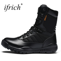 New Boots For Men Black Army Boots Military Lace Up Combat Boots Comfortable Anti Slip Mens