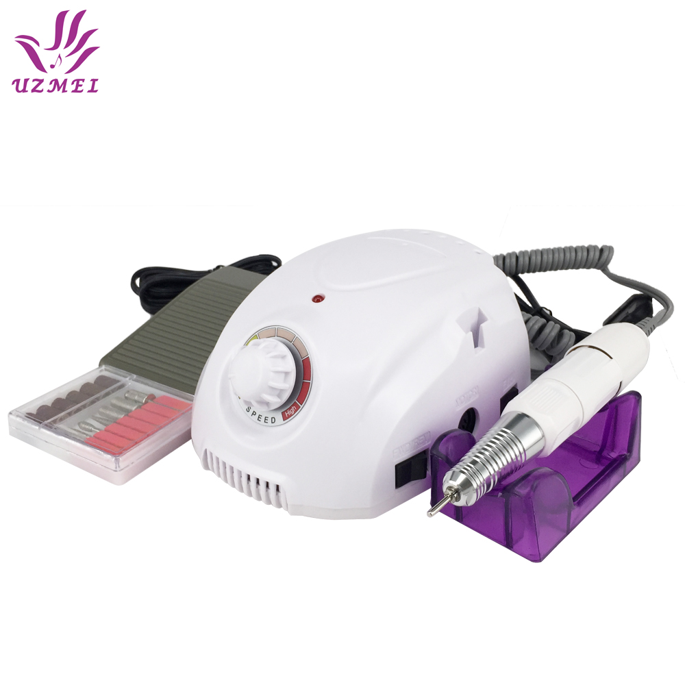High Power 35W Professional Electric Nail Manicure Machine Kits File Bits Sanding Band Accessory Nail Salon Nail Tools professional electric nail drill machine manicure kits file drill bits sanding band accessory nail salon nail tools