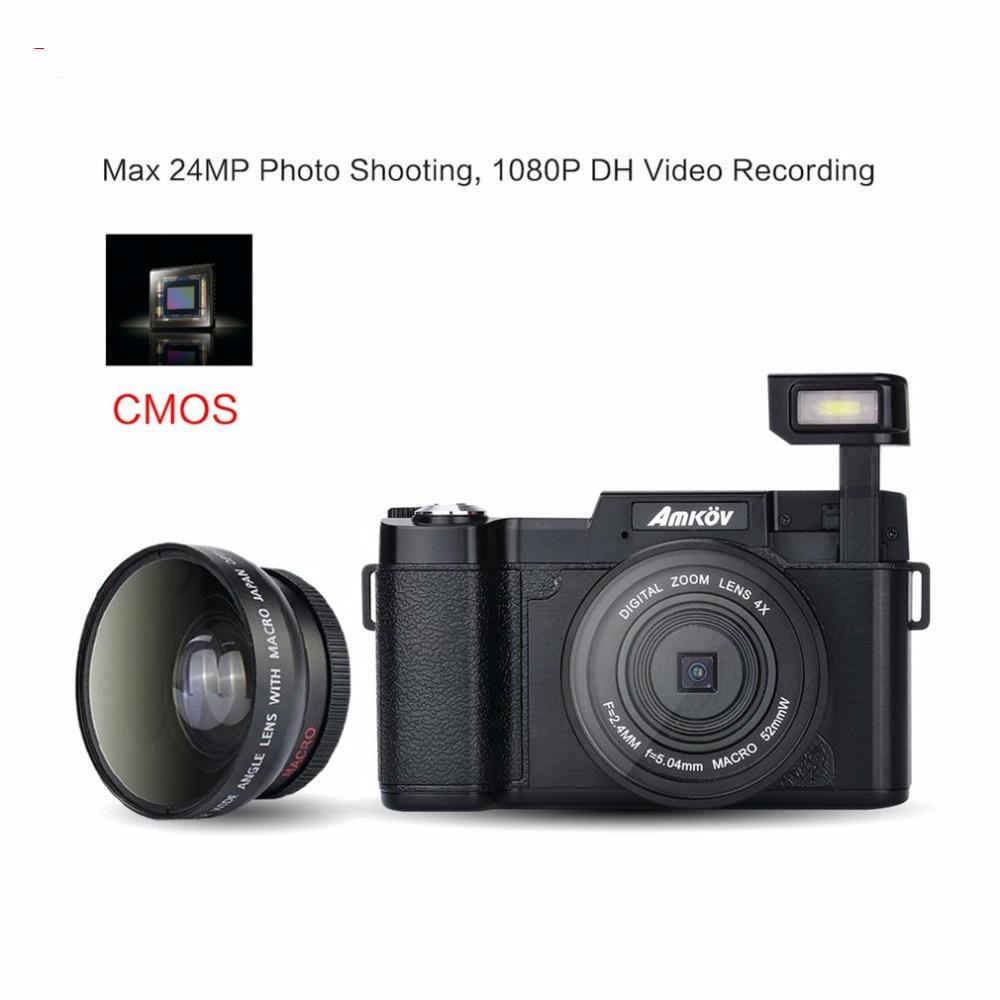 24MP HD 1080P 3.0 TFT LCD 180 degree Rotatable Screen Digital SLR DV Recorder Camera with Facial Beauty Function цифровая фотокамера 5 hd d3000 16 0mp 3 0 tft slr hd d3000 camera