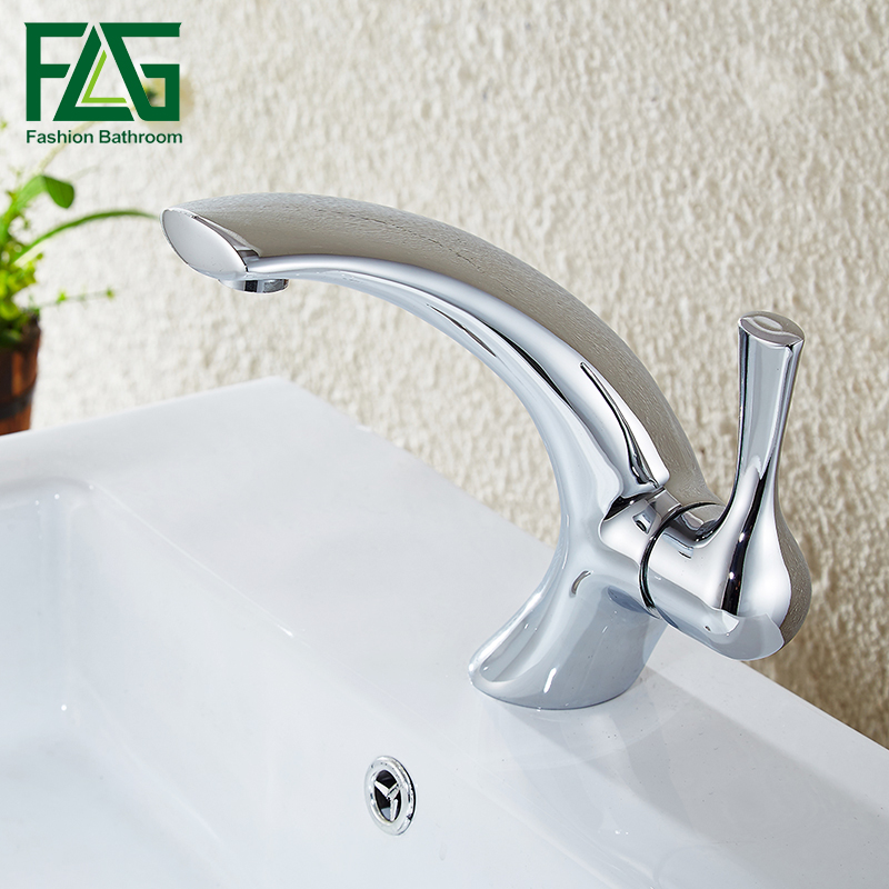 FLG Wholesale And Retail Chrome Brass Water Bathroom Faucet Bathroom Basin Mixer Tap with Hot and Cold Water wholesale and retail basin tap black color sense faucets only for cold water free touch bathroom faucet