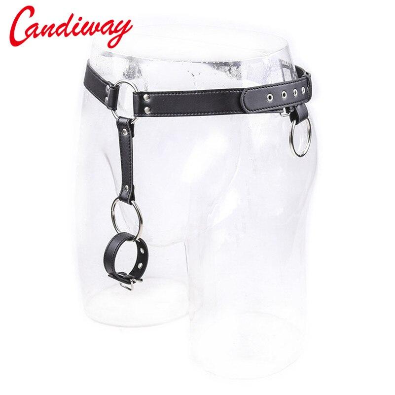 candiway cock ring Chastity Panty BDSM Bondage Erotic Sex Toys for man Adult Fetish Harnesses Belt anal plug