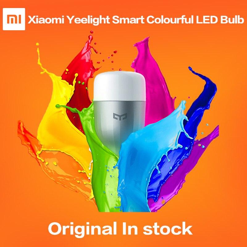 imágenes para Original Xiaomi Yeelight Inteligente Luz Colorida LLEVÓ el Bulbo Wifi Remote Control de Brillo Ajustable de la Salud Visual Inteligente Bombilla Mi Luz