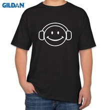 Joke T Shirts Crew Neck Men Short-Sleeve Spaced Out Smiley Face Dj Dance Rave Gamer Geek Hipster Graphic Tees