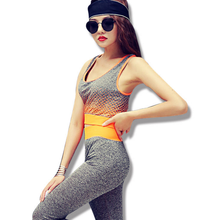 Top Quality Pilates Yoga Suits Top + Pants Sets Women's Jumpsuit Bodysuit Solid Nylon Gym Running Fitness Sports Tights