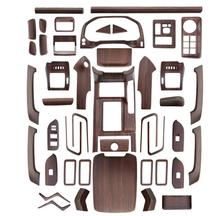 Luxury ABS Wood Chrome 44pcs For Toyota Land Cruiser PRADO FJ150 2018 Car Interior Cover Trim Frame Decoration Styling