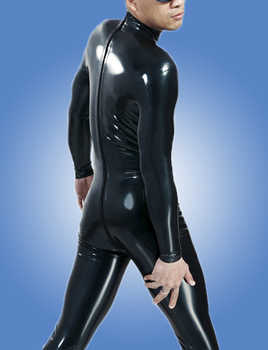 Latex catsuit back crotch zipper rubber zentai bodysuit custom made plus size - DISCOUNT ITEM  11% OFF All Category