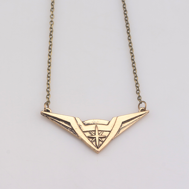 SC New Design Movie Jewelry Wonder Woman Pendant Diana Logo Necklace For Women Vintage Anqique Bronze Superhero Colar Necklaces