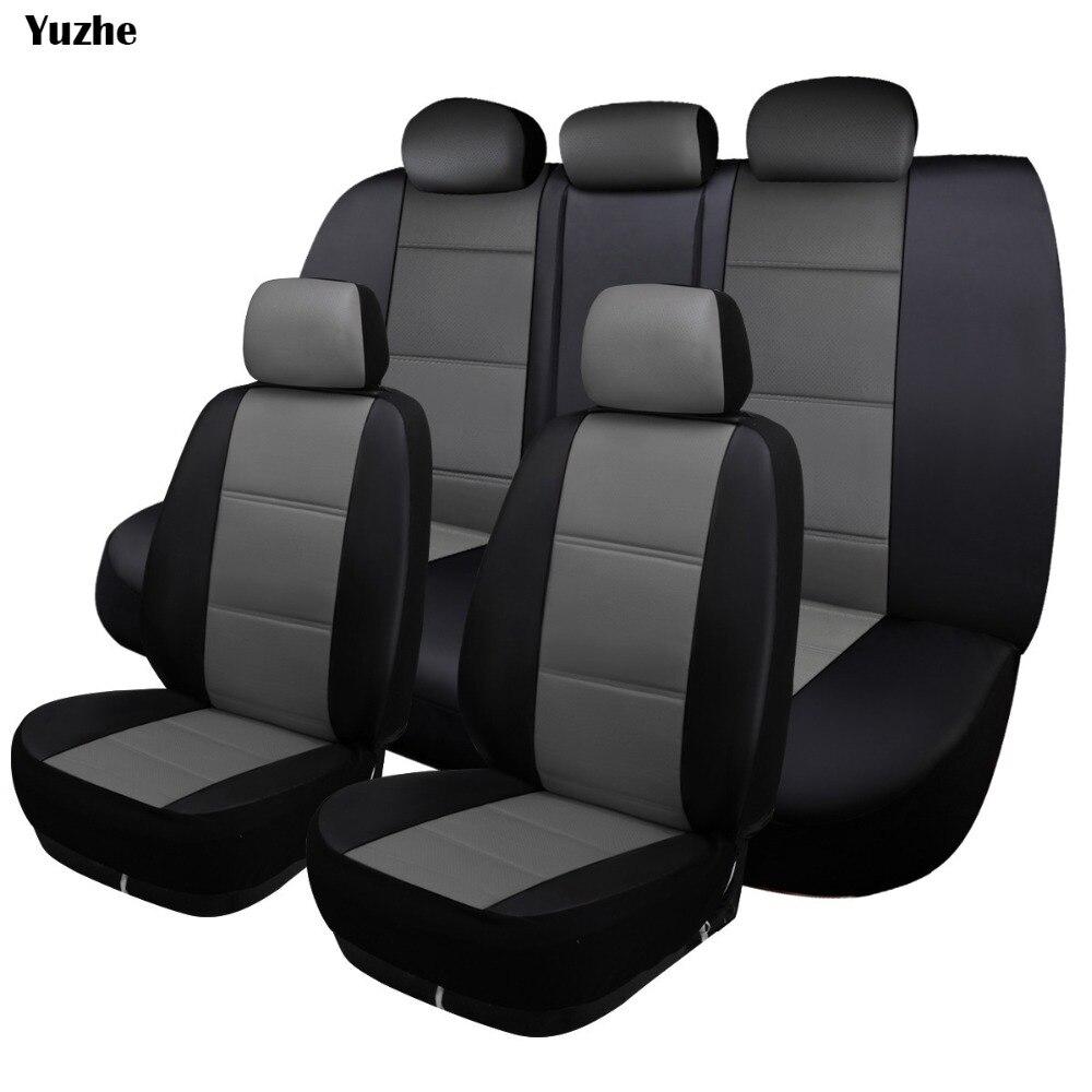Yuzhe Универсальный Авто кожаные сиденья для Skoda Rapid Fabia превосходным Octavia йети автомобилей Автомобильные Аксессуары Укладка сиденье