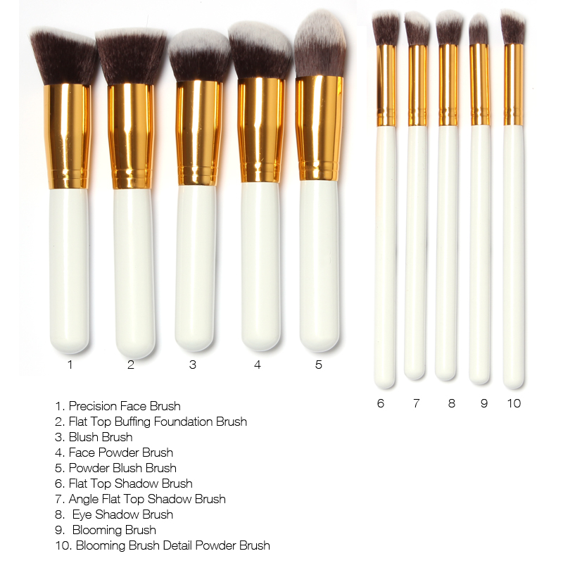 10Pcs/Set Makeup Brushes Superior Professional Soft Mini Cosmetics ...