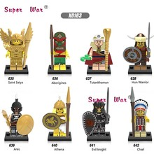 Single Medieval Saint seiya Aborigines Hun Warrior Ares Athena Evil Keight Chief building blocks models bricks toys for children(China)