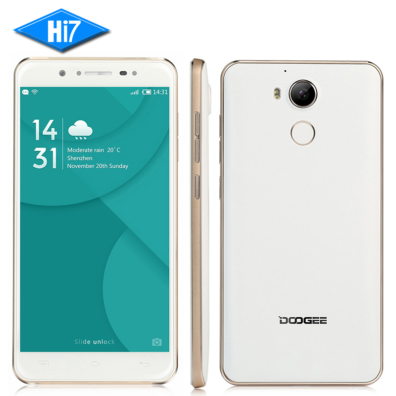 NEW Original Doogee F7 Mobile Phone Deca Core 3GB 32GB 5.5 inch Android 6.0 4G LTE MT6797 Helio X20 13MP Fingerprint ID 3400mAh