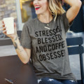 Women Ladies Soft Comfortable Pretty Letter Printed Short Sleeve Round Neck Loose Casual T Shirt Tops Tee Dark Gray S/M/L/XL