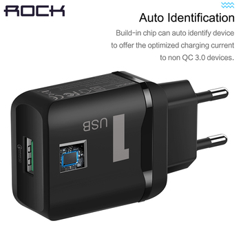 ROCK 18W QC3.0 Quick USB Charger, FCP Quick Charge 3.0 Fast Mobile Phone Charger For SamsungXiaomi Huawei  Fast Charging QC2.0 Зарядное устройство