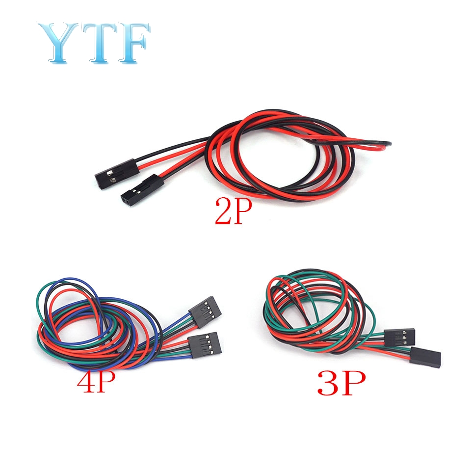 3D Printer Parts  Cable Jumpers 2P Female DuPont Line 70CM 2pin3P 4Pin Mother To Mother 5PCS /LOT