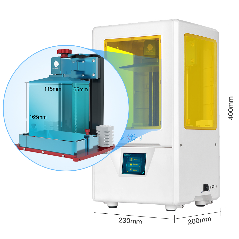 Image 2 - ANYCUBIC 3d printer Photon S SLA 3d Printer 2K Screen 405nm UV Printer Light LCD Shadow Masking 3D Printer Kit DIY impresora 3d-in 3D Printers from Computer & Office