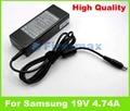 19V 4.74A AC power adapter for Samsung charger RV540 RV540E RV540I RV709 RV711 RV720 RV720E RV720I SF510 SF511