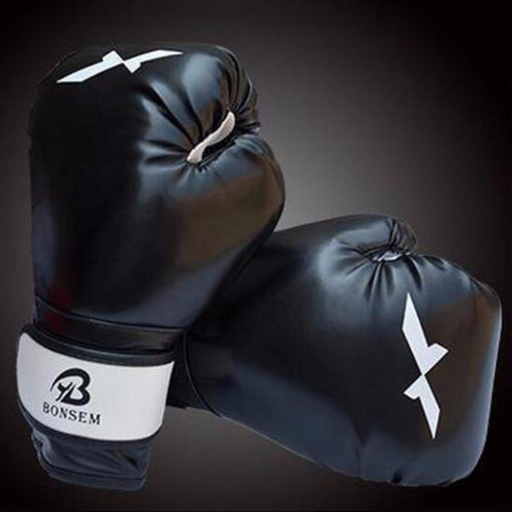 1 Pair Training Boxing Gloves New Style Boxing Mitts Sanda Karate Sandbag Taekwondo Fighting Hand Protector Gloves taekwondo sanda boxing training target black red size m