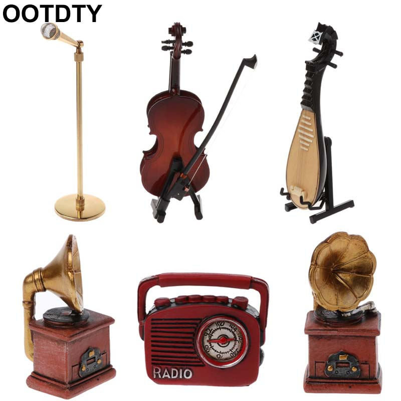 Newborn Photography Prop Creation Musician Violin Guitar Radio Microphone Lute Instruments Infant DIY Props Studio Accessories